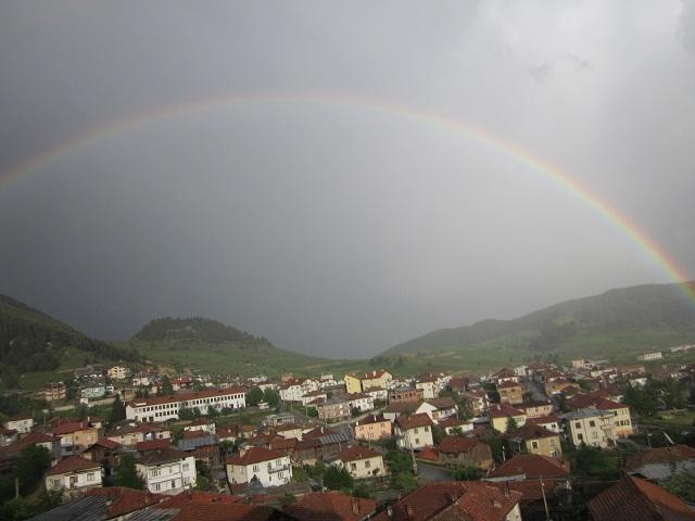 Дъга над Борино